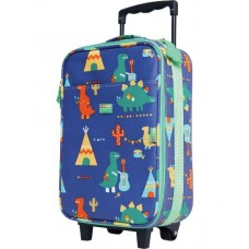 Wheelie Bag Kids Suitcase - Dino Rock - Penny Scallan
